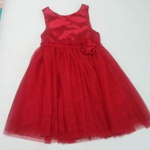 H&M Red Tulle Sparkly Dress 4 / 5